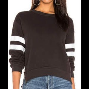 Sundry side zip stripe sweatshirt, black, size 1